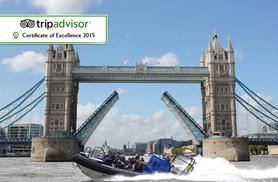 £14 for a 25-minute RIB boat thrill ride tour along the Thames for one person, £25 for a 50-minute ride with RIB Tours London, South Bank!