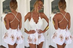 £8 instead of £39.99 (from EF Mall) for a floral backless summer playsuit - save 80%