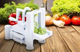 £9.99 instead of £36 for a tri-blade fruit and vegetable spiral slicer - save 72%