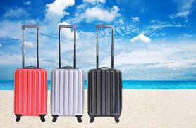 £19.99 for a cabin-approved suitcase from Karabar Ltd - choose from black, silver or red!