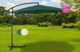 £54.99 instead of £193 for an extra large parasol in a choice of two colours - save 72%