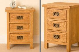 £69 instead of £110 for an oak bedside table from London Furniture Store - save 37%