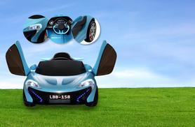 £99 (from Fun4Kids) for a kids' 12v electric Rocket MC12 ride on car in white, green, blue or black