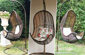 £169 instead of £399 for a garden rattan egg chair - save 58%
