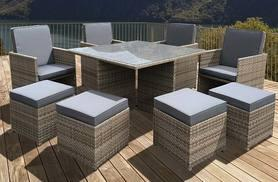 £549 instead of £1639.01 (from OSeasons) for an eight-piece OSeasons® cube rattan garden furniture set and table - save 67%