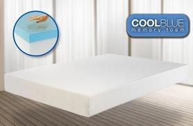 £69 for a single Comfort CoolBlue™ memory foam mattress, £89 for a double mattress or £109 for a king mattress - save up to 83%