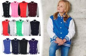 £11.99 instead of £33.99 (from Gorgeous Selection) for a kids' varsity jacket - choose from 13 colours and save 65%