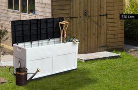 £39 instead of £122 for a 320-litre garden storage box - save 68%