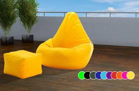 £28 instead of £99 (from UK Beanbags) for an outdoor highback beanbag with a matching footstool - choose from 10 bright colours and save 72%