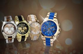 £10 instead of £99.99 (from Alvi's Fashion) for a luxury unisex Geneva watch - choose from four colours and save 90%