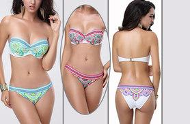 £8 instead of £49 (from Boni Caro) for a push-up bikini in paisley print - choose from three colours and save 84%