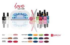 £30 (from Gruv) for a nine-piece UV nail kit including a UV lamp and two polishes, £36 including four polishes - save up to 87%
