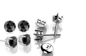 £29 (from Buy Fine Diamonds) for a pair of sterling silver black diamond stud earrings, £49 for a pair of 9ct white gold black diamond stud earrings - save up to 64%
