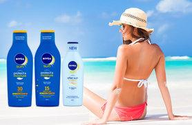 £16 instead of £30.45 (from ClearChemist) for a three-piece Nivea sun lotion bundle - ward off the sun's negative effects and save 47%