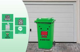 £5.99 instead of £19.98 (from Wundur) for two personalised wheelie bin stickers, or £9.99 for four - save up to 70%