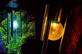 £9.99 instead of £24.99 (from Hungry Bazaar) for a LED colour-changing solar wind chime - save 60%