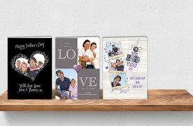 £5 instead of £10 (from Creative Canvas Company) for an extra-large personalised Father's Day card - choose from three designs and save 50%