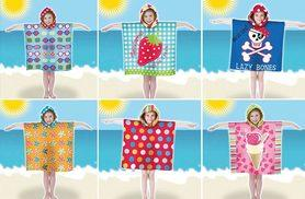 £4.99 instead of £10 for a colourful kids' summer poncho towel - save 50%
