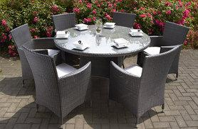 £399 instead of £879.01 (from First Choice Shop) for a Roma rattan dining set - save 55%
