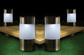 £5.99 instead of £11.99 (from DUK) for a chrome garden solar light, £8.99 for two or £13.99 for four - save up to 50%