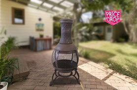 £45 instead of £129.99 (from eStore London) for an iron steel barbecue chiminea with grill - save 65%