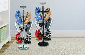 £12 instead of £59.99 (from Groundlevel) for a revolving upright shoe rack - save 80%