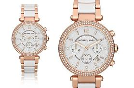 £129 instead of £272.01 for a Michael Kors ladies' stone set two tone watch - save 53%