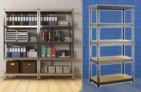 £20 instead of £193 (from TLD Marketing) for a five-tier set of storage racking - save 90%
