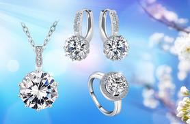 £12 instead of £199.99 for a white gold-plated tri set - sparkle this summer and save 94%