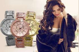 £12 instead of £69.99 (from Fakurma) for a stylish ladies' Rivera watch - choose rose, silver or gold colour and save 83%