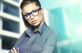 £19 for an eye test and two pairs of glasses, £24 with two pairs of tinted glasses or £39 with one pair of designer glasses at The Spectacle Store - save up to 75%