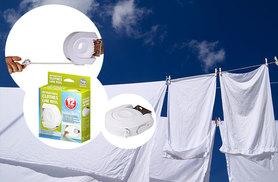 £5 instead of £18 for a 12-metre retractable clothes line - save 72%