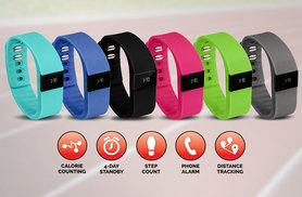 £12.99 Instead of £39.99 for an Smart Bluetooth Sports Activity Bracelet in a Choice of Six Colours - Save 68%
