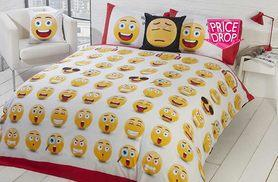 £11 instead of £39.99 (from Groundlevel) for an emoji single duvet set, £13 for double, £15 for king and £11 for superking - choose from five designs and save up to 72%