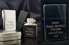 From £7 instead of £29 (from Aspire Jewellery) for personalised petrol lighter - get the perfect present for the best man and save 76%