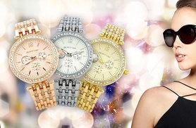 £12 instead of £39.99 for a diamante watch - choose from gold, silver or rose gold colours and save 70%