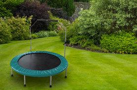 £29 instead of £145 for a trampoline with removable handrail - save 80%
