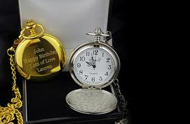 £16 instead of £59 (from Aspire) for a personalised flip pocket watch on a chain - save 73%