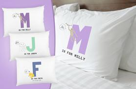 £3.99 instead of £14 (from Prints with Feelings) for a kids' personalised animal initial pillowcase - choose from letters A to Z and save 72%