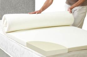 """£19 instead of £88 for a single 1"""" memory foam mattress topper, £24 for a double, £26 for a king or £29 for a super king - choose from four sizes and save up to 78%"""