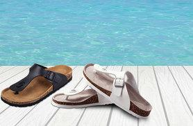 £12 instead of £41.78 (from ProductShelf) for a pair of ladies' faux leather sandals - choose from black and white and save 71%