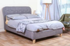 £99 instead of £249.99 for a single size grey Cairo fabric bed frame, £119 for a small double or double, £139 for a king size - save up to 60%