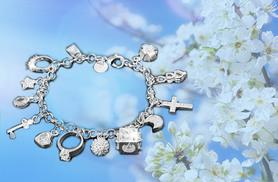 £7 instead of £86 (from Alvi's Fashion) for a crystallized charm bracelet with 13 pendants - save 92%