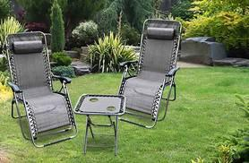 £59 instead of £150 for a 'zero gravity' table and chairs set - choose green or black and save 61%