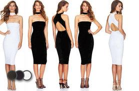 £9 instead of £34.99 for a choker bodycon dress - choose from three colours and save 74%