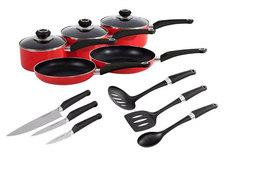 £44 instead of £89.99 for a Morphy Richards 11-piece pan set and kitchen tool set - save a flashy 51%