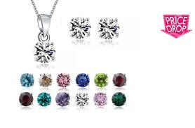 £5 instead of £49.99 (from Fakurma) for a birthstone-style pendant and earrings duo set - choose your month and save 90%