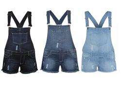 £12.99 instead of £39.99 for a pair of stylish short dungarees - choose light, mid or dark wash and save 68%