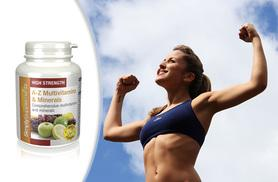 £7 instead of £14.95 (from Simply Supplements) for a three-month supply* of A-Z multivitamins and minerals - treat your body and save 53%