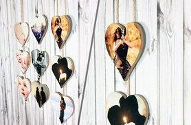 £9 instead of £39.99 (from Your Perfect Canvas Ltd) for a three-piece heart photo hanger - save 77%